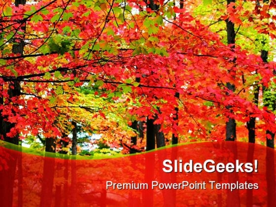 Autumn Landscape Nature PowerPoint Template 1010