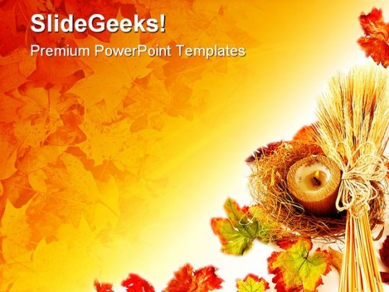 Autumn Leaves02 Nature PowerPoint Template 1010