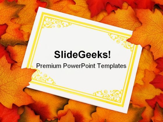 Autumn powerpoint templates slides and graphics autumn leaves card nature powerpoint backgrounds and templates 0111 toneelgroepblik Image collections