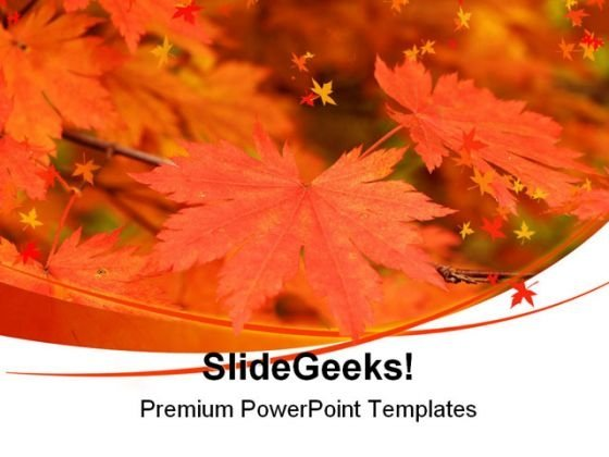 Autumn Maple Leaves Nature PowerPoint Templates And PowerPoint Backgrounds 0511