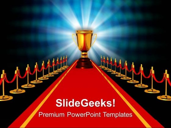 award on red carpet competiton powerpoint templates ppt, Modern powerpoint