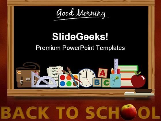 Back To School04 Education PowerPoint Template 0810