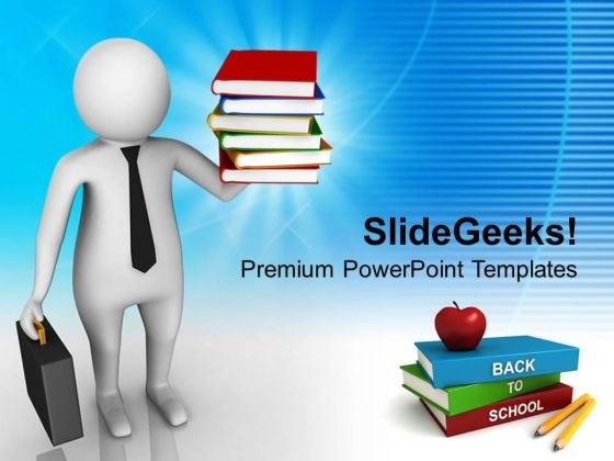 Back To School 3d Image PowerPoint Templates Ppt Backgrounds