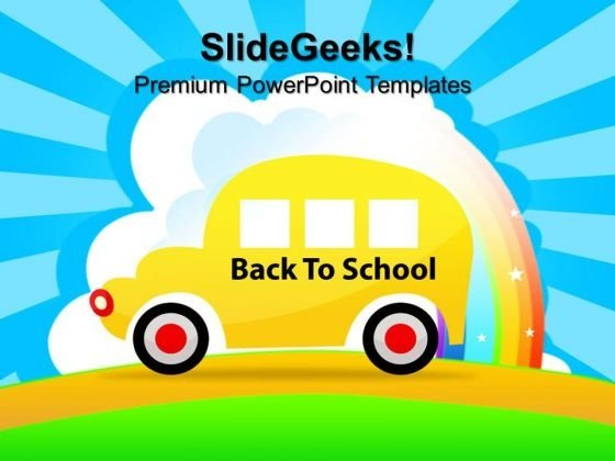 Back To School Bus Education PowerPoint Templates And PowerPoint Themes 0812