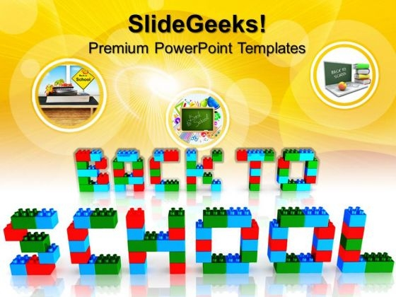 Back To School With Lego Blocks Game PowerPoint Templates And PowerPoint Themes 0812