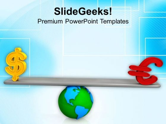 Balance Between Dollar And Pound PowerPoint Template 1113