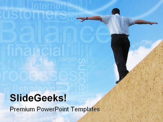 Balance Business Success PowerPoint Themes And PowerPoint Slides 0811