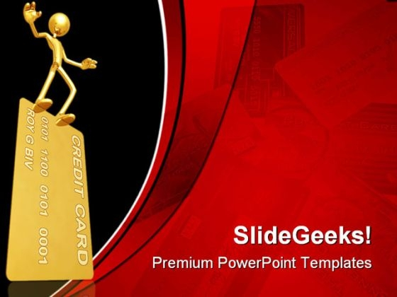 Balance On Credit Card Business PowerPoint Templates And PowerPoint Backgrounds 0511