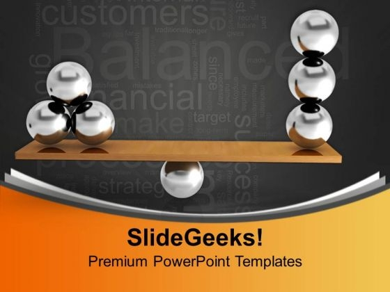 Balancing Balls Business PowerPoint Templates Ppt Backgrounds For Slides 0113