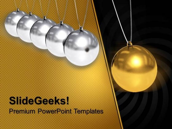 Balancing Balls On White Background Creativity PowerPoint Templates And PowerPoint Themes 1012