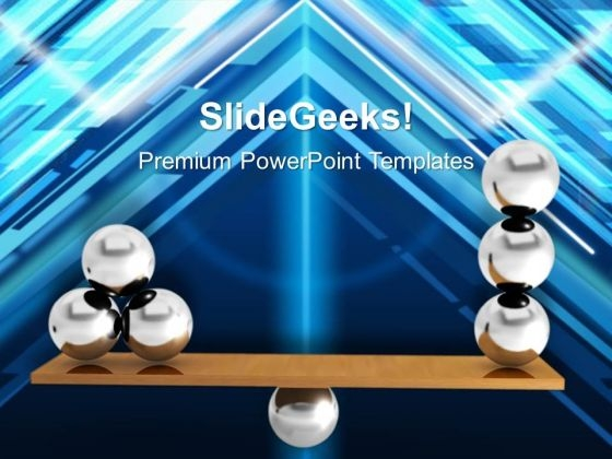 Balancing Balls On Wooden Board Balance PowerPoint Templates And PowerPoint Themes 1012