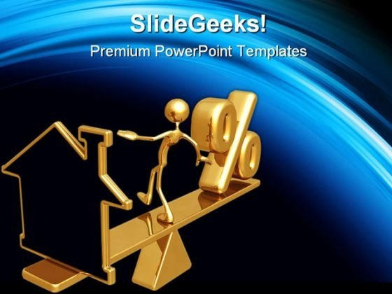 Balancing Home Real Estate PowerPoint Themes And PowerPoint Slides 0411