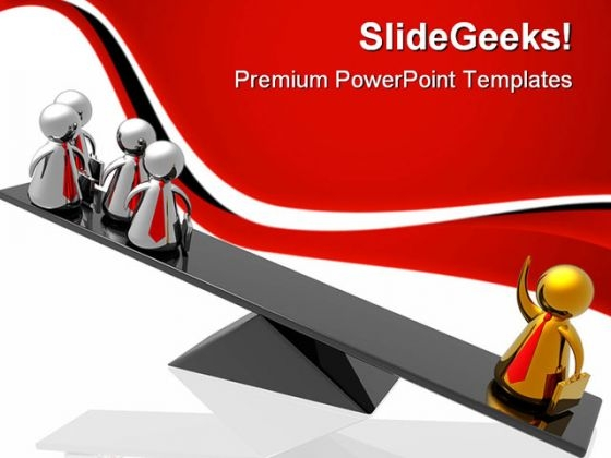Balancing Leadership Concept Business PowerPoint Templates And PowerPoint Backgrounds 0611