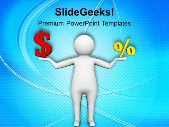 Balancing Money And Discount Business PowerPoint Templates Ppt Backgrounds For Slides 0713