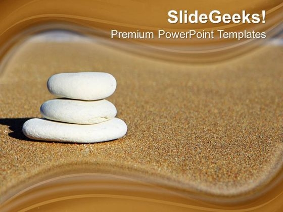Balancing Stones On Brown Background PowerPoint Templates Ppt Backgrounds For Slides 0213