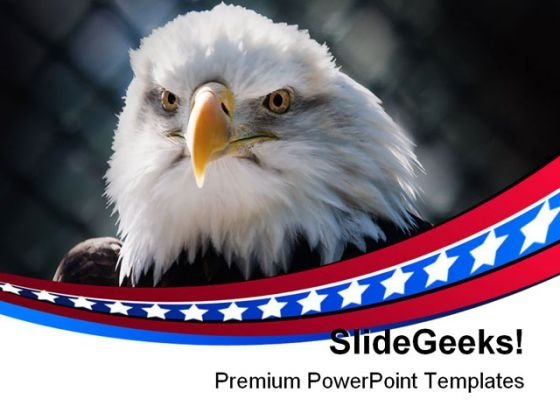 Bald Eagle Americana PowerPoint Themes And PowerPoint Slides 0311