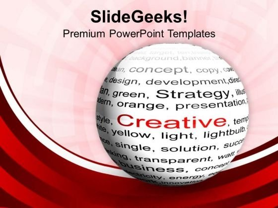 Ball With Inscription Creative Red Background PowerPoint Templates Ppt Backgrounds For Slides 0513