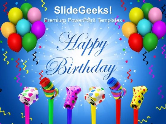 Balloon Streamers And String PowerPoint Templates And PowerPoint Themes 1012