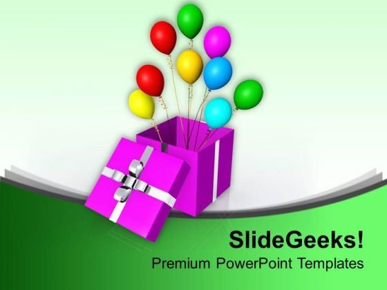 Balloon Symbolizes Happiness PowerPoint Templates Ppt Backgrounds For Slides 0513
