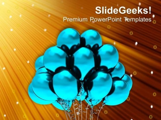 Balloons To Show Celebration Theme PowerPoint Templates Ppt Backgrounds For Slides 0413