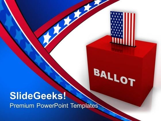 Ballot Box Americana PowerPoint Templates And PowerPoint Themes 0812