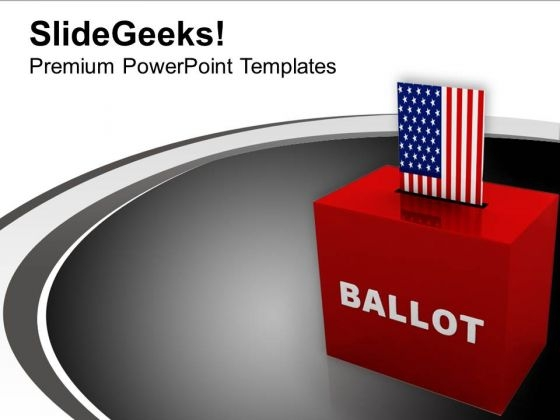 Ballot Box Americana PowerPoint Templates Ppt Backgrounds For Slides 1112