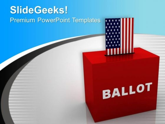 Ballot Box Usa Government PowerPoint Templates Ppt Backgrounds For Slides 0113