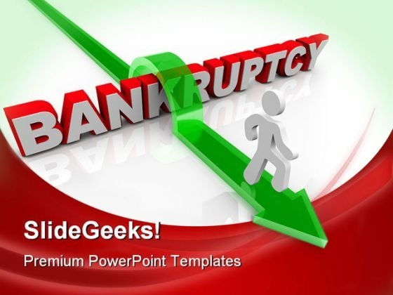 Bankruptcy Business PowerPoint Backgrounds And Templates 1210