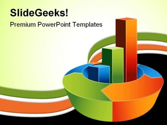 Bar Chart Business PowerPoint Template 0910
