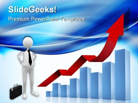 Bar Chart Business PowerPoint Templates And PowerPoint Backgrounds 0411