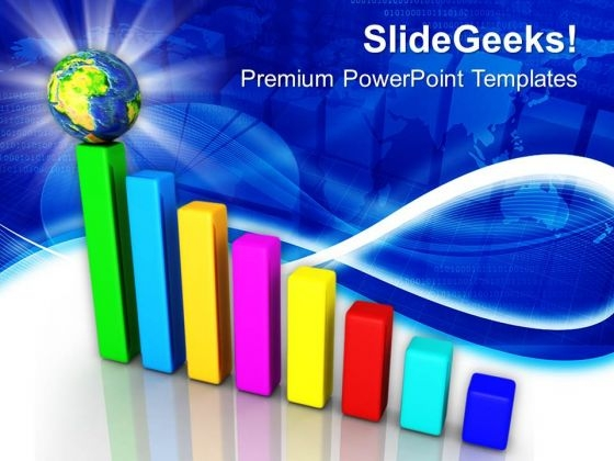 Bar Graph And Globe Business Success PowerPoint Templates Ppt Backgrounds For Slides 1212