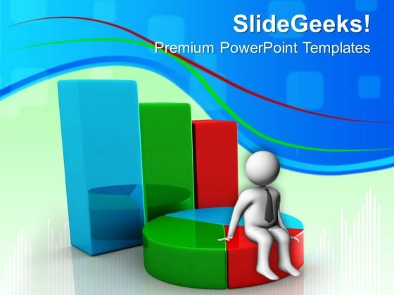 Bar Graph And Pie Chart Marketing Powerpoint Templates And