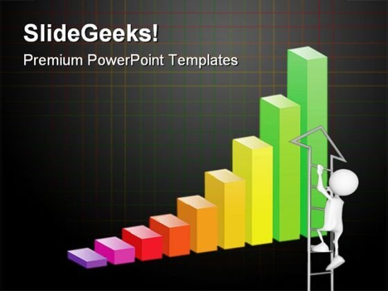 Bar Graph Business PowerPoint Backgrounds And Templates 0111