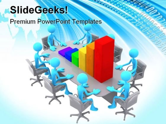 Bar Graph Meeting Business Powerpoint Templates And