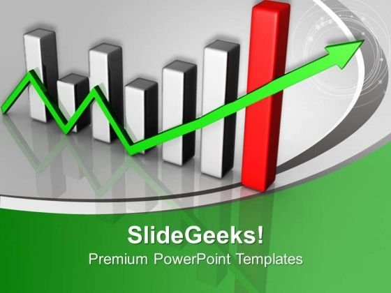 Bar Graph Showing Growth Marketing PowerPoint Templates Ppt Backgrounds For Slides 1212