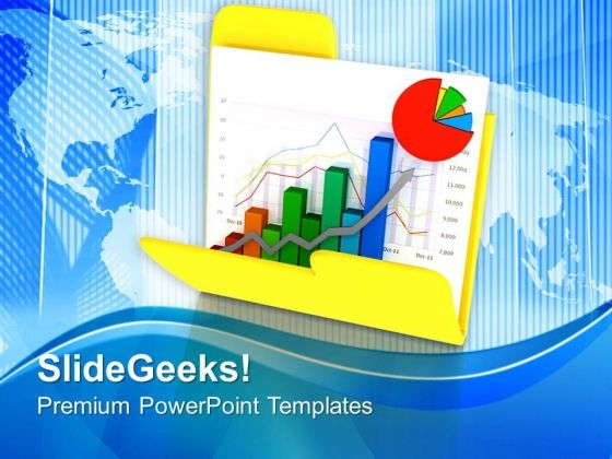 Bar Graph To Secure Data PowerPoint Templates Ppt Backgrounds For Slides 0713