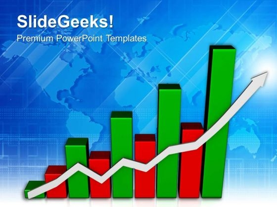 Bar Graph To Show Profit And Gains PowerPoint Templates Ppt Backgrounds For Slides 0413