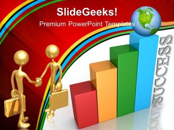 Bar Graph With Global Success PowerPoint Templates And PowerPoint Themes 0412