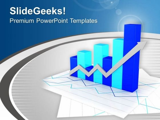Bar Graph With Variation In Result PowerPoint Templates Ppt Backgrounds For Slides 0513