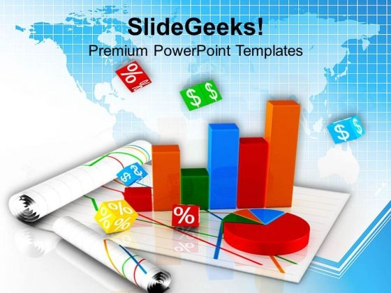 Bar Pie Chart Business Marketing PowerPoint Templates Ppt Backgrounds For Slides 0413