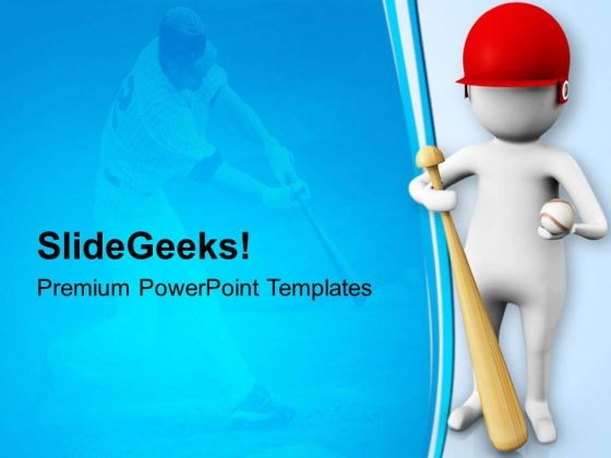Baseball Is Intresting Game PowerPoint Templates Ppt Backgrounds For Slides 0813