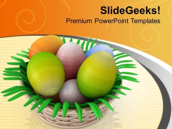 Basket Full With Surprise Eggs PowerPoint Templates Ppt Backgrounds For Slides 0813