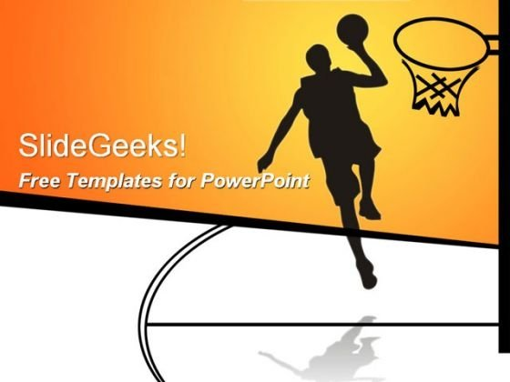 Basketball Sports PowerPoint Template