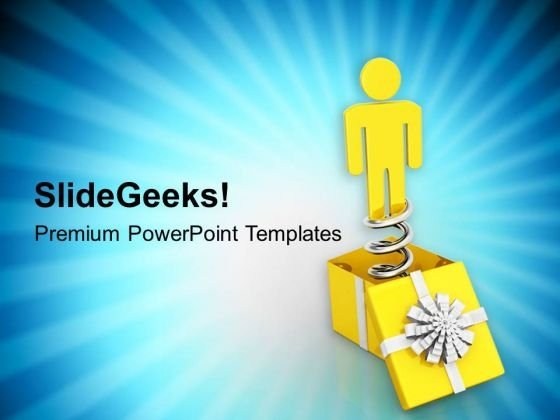 Be A Surprise Package PowerPoint Templates Ppt Backgrounds For Slides 0813