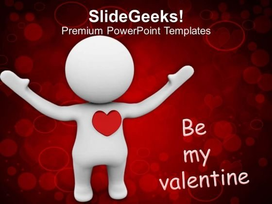 Be My Valentine Symbol Of Love PowerPoint Templates Ppt Backgrounds For Slides 0213
