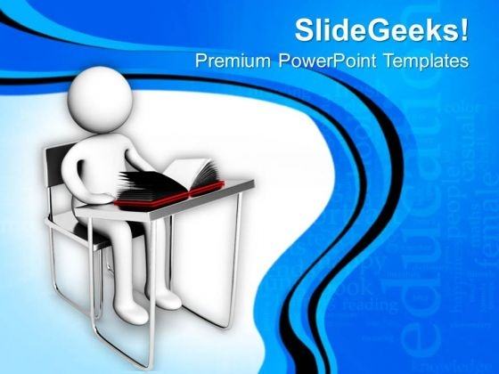 Be Studious And Find Goal PowerPoint Templates Ppt Backgrounds For Slides 0513
