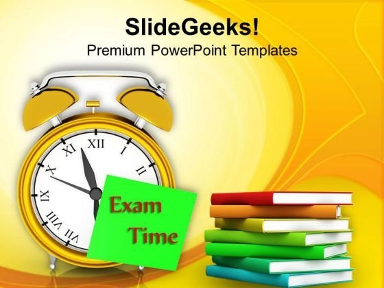 Be Studious In Exam Time PowerPoint Templates Ppt Backgrounds For Slides 0613