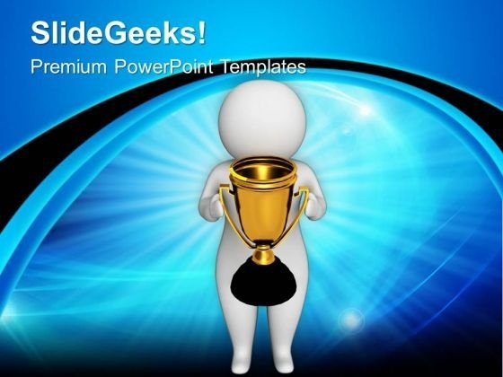 Be The First One For Wiining The Competition PowerPoint Templates Ppt Backgrounds For Slides 0713