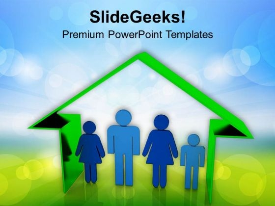 Be The Happy Family PowerPoint Templates Ppt Backgrounds For Slides 0613