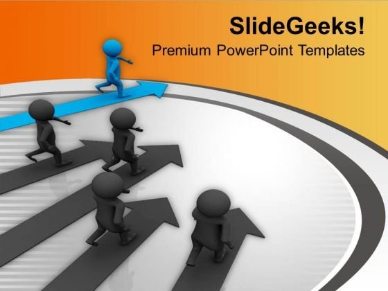 Be The Winner Of Race For Financial Growth PowerPoint Templates Ppt Backgrounds For Slides 0613
